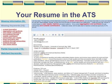 Optimize Your Resume by Optimize Your Resume For Applicant Tracking Systems 2016
