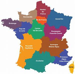 Map Of Regions Of France