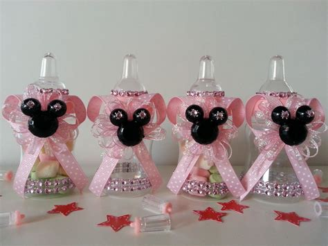minnie mouse baby shower decorations ideas 12 minnie mouse pink fillable bottles baby shower favors