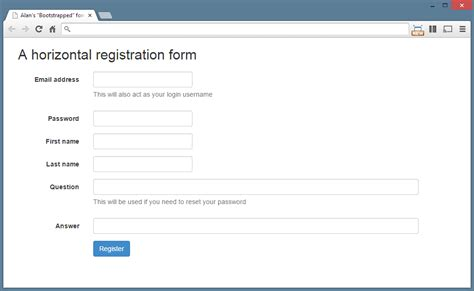 Styling Forms With Twitter Bootstrap