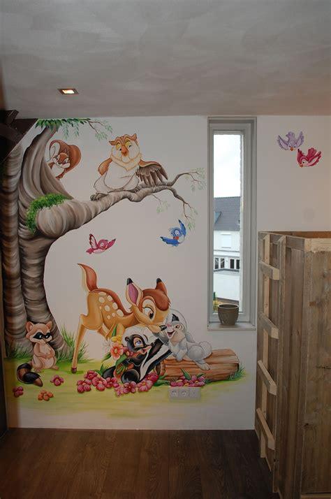 Kinderzimmer Wandgestaltung Disney by Stertje Bloem Muurschildering Disney