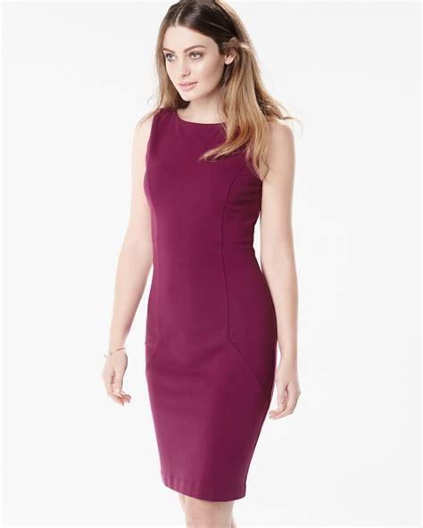 form fitting ponte sleeveless dress rwco