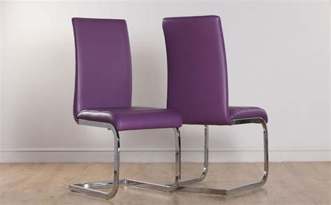 perth purple leather dining chair   furniture