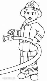 Firefighter Coloring Pages Print Cartoon sketch template