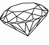 Diamond Coloring Diamante Desenho Diamonds Drawing Clipart Tatuagem Outline Tattoo Drawings Sketch Sketches Geometric Simple Desenhos Popular Imagens Jewellery Paintings sketch template