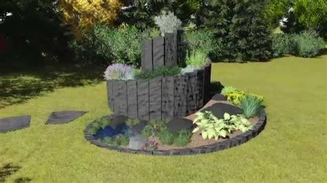 3d Gartenanimation Kräuterspirale Aus Basalt Youtube