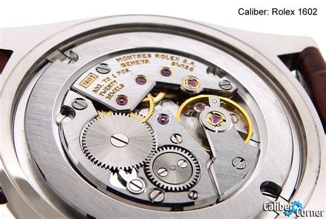 rolex caliber 1602 movement calibercorner
