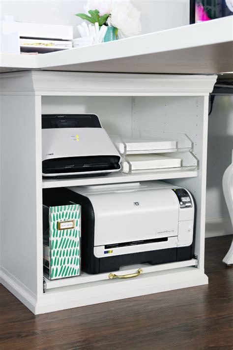 ikea under desk storage iheart organizing ikea stuva printer cart hack