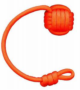 Keychain Neon Orange The Monkey Fist