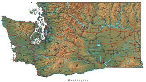 washington map  maps  washington state