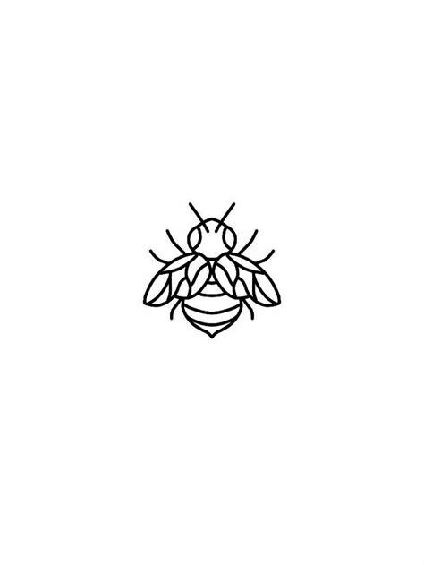 Tatto Ideas 2017 - Little bee tattoo flash design... | Tattoos | Bee tattoo, Mermaid tattoos