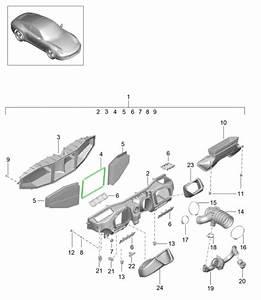 Porsche 991 Air Box Housing Centre Gasket 99111013100