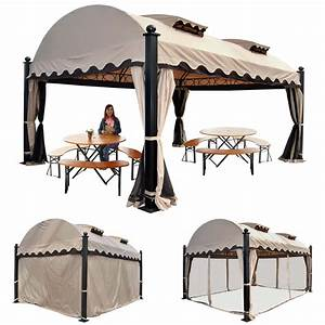 Pavillon 3 5x3 5 : pergola daroca garten pavillon 10cm luxus alu gestell mit seitenwand moskitonetz 4 5x3 5m ~ Frokenaadalensverden.com Haus und Dekorationen
