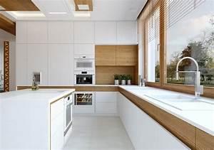 Moderne Küche Mit Kochinsel Holz : 41 moderne k chen in eiche helles holz liegt im trend ~ Bigdaddyawards.com Haus und Dekorationen