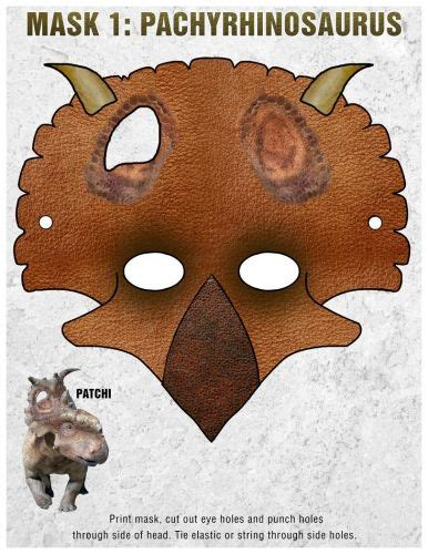 printable patchi dinosaur mask   dinosaur