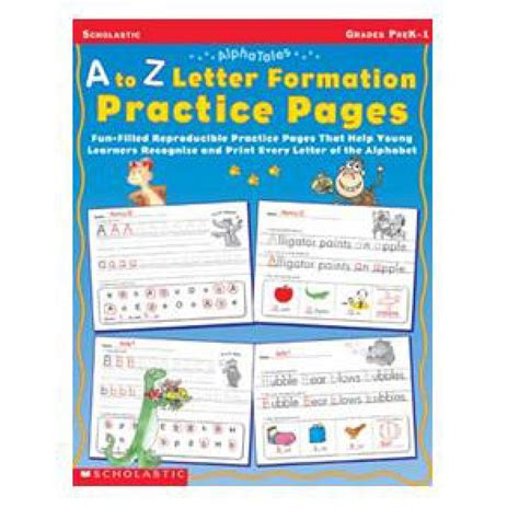 letter formation book alphabet early learning