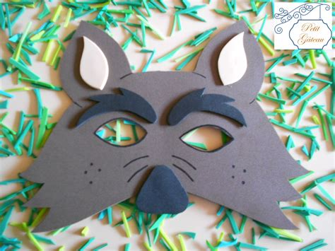 molde de mascara de lobo en foami imagui moldes