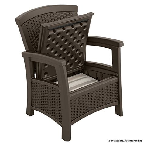 patio chair storage comfortable seating outdoor furniture