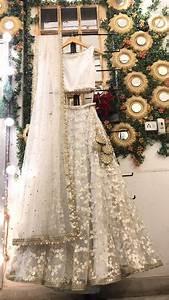 white embroidered wedding lehenga bridal lengha choli