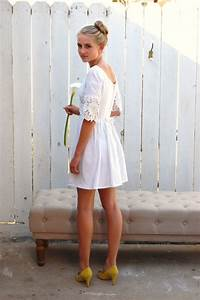 vintage 6039s white linen and lace short mod wedding dress With 60 s mod style wedding dress