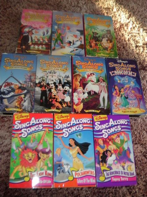 free disney sing along song vhs lot vhs listia auctions for free stuff