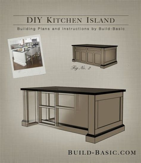 how to make a kitchen island with cabinets easy building plans build a diy kitchen island with free