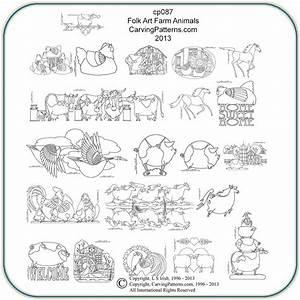 Farm Animals & Folk Art Patterns – Classic Carving Patterns