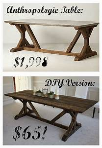 DIY Anthropologie Knockoff Farmhouse Table For Only 65