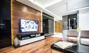 Fernseher An Der Wand : fernseher an wand montieren die eleganteste variante ~ Frokenaadalensverden.com Haus und Dekorationen