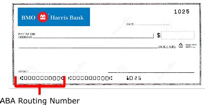 Bmo Harris Bank Routing Number Wiring Instructions