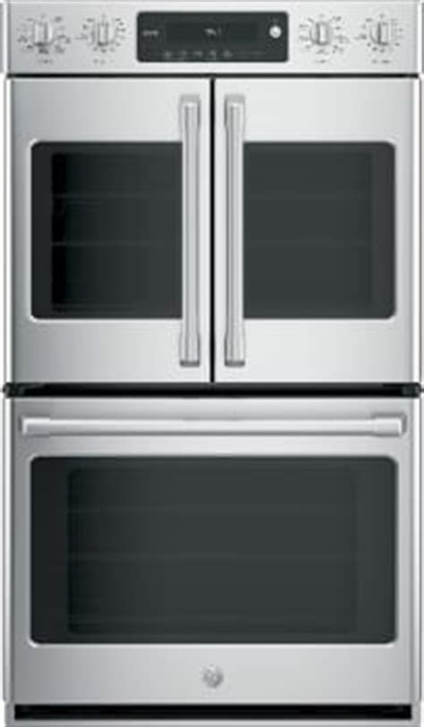 cafe ctslss   smart electric double oven  wi fi connect true convection alexa