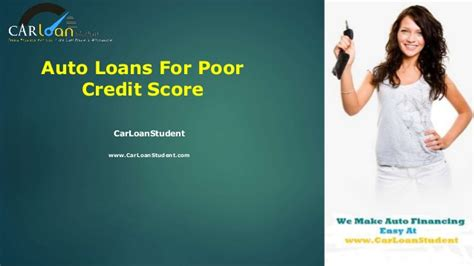 Auto Loans For Poor Credit Score