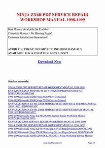 Ninja Zx6r Service Repair Workshop Manual 1998
