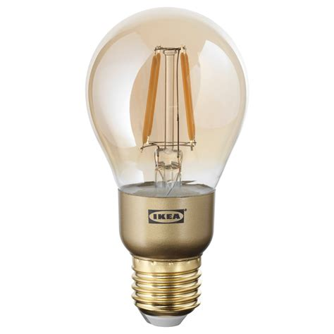 lunnom led bulb e27 400 lumen dimmable globe brown clear
