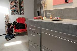 Crédence Béton Ciré : beton cire pour credence cuisine lertloy com ~ Premium-room.com Idées de Décoration