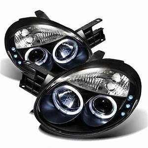 Dodge Neon 2003 2005 Black Dual Halo Projector Headlights