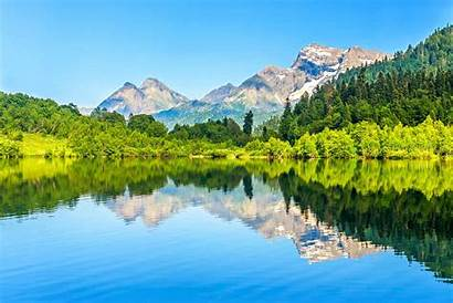 Mountain Lake Reflection Shutterstock Forest Wilderness Movies