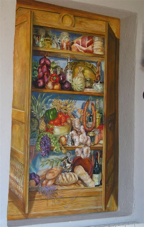 trompe l oeil etagere mural catherine lovegrove murals