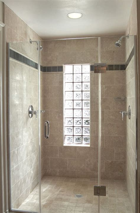 Glass Block Designs For Bathrooms by Glass Block Window In Shower Bathroom Eclectic With None