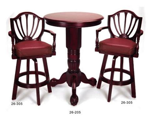 pedestal bar table and chairs mahogany pedestal pub table 2 chair set by berner billiards