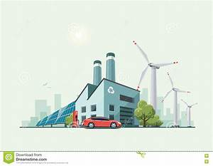 Green Eco Recycling Factory Stock Vector - Image: 74968702