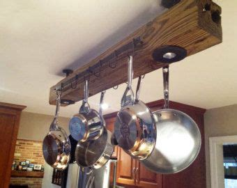 kitchen pot racks with lights 1000 ideas about pot rack hanging on pan 8399