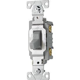 Shop Cooper Wiring Devices Amp Gray Light Switch