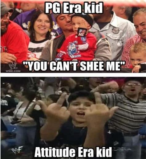 Wwf Meme - pg era kids vs attitude era kids