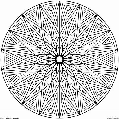 Coloring Pages Designs Adults Geometric Patterns Pattern