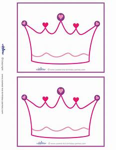 7 best images of printable blank birthday invitations With free printable princess crown template