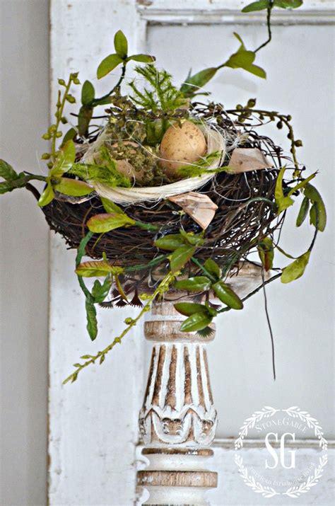 chippy blooming nest inspired spring mantel easter