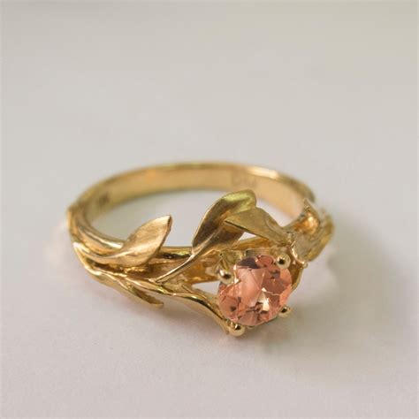 rings rings rings leaves engagement ring no 4 14k
