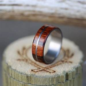men39s wood wedding band with metal inlay available in With wood and metal wedding rings