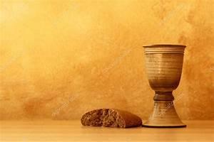 Chalice with wine and bread. — Stock Photo © MKucova #28638205